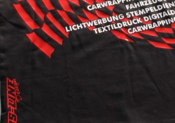 Ihre Textilien bedrucken wir mit Flexfolien, Flockfolien ( auch in kleinen Stückzahlen ), T- Shirts, Regenschirme, Brillenputztücher, Jacken, Hosen, Unterwäsche, Kissenbezüge, Basecaps und vieles mehr.